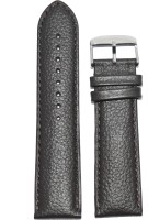 KOLET Matte Finish Dotted 24BR 24 mm Genuine Leather Watch Strap(Brown)