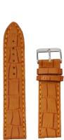 KOLET Croco Matte Finish 20 20 mm Genuine Leather Watch Strap(Tan)