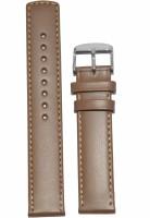 KOLET Plain Parallel 18BE 18 mm Genuine Leather Watch Strap(Beige)