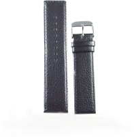 KOLET Dotted Parallel 22 mm Genuine Leather Watch Strap(Black)