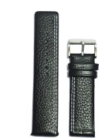 KOLET Parallel Dotted 20B 20 mm Genuine Leather Watch Strap(Black)