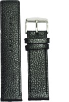 KOLET Parallel Dotted 22B 22 mm Genuine Leather Watch Strap(Black)