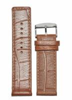 KOLET Croco Texture Matte Finish 22T 22 mm Genuine Leather Watch Strap(Tan)