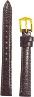 KOLET Ladies Dotted 10MR 10 mm Genuine Leather Watch Strap(Maroon)