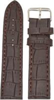 KOLET Croco BR 20 mm Genuine Leather Watch Strap(Brown)