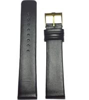 KOLET Slim P20B 20 mm Genuine Leather Watch Strap(Black)