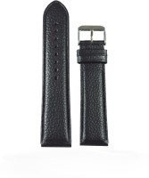 KOLET Dotted Padded 20B 20 mm Genuine Leather Watch Strap(Black)