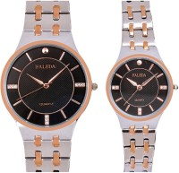 Faleda P6168TTB Standred Analog Watch For Couple