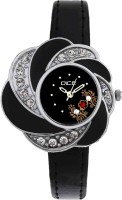 DICE FLRB-B166-6511 Flora Black Analog Watch For Girls
