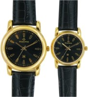 Maxima 24746/24496LMPY Gold Analog Watch For Couple