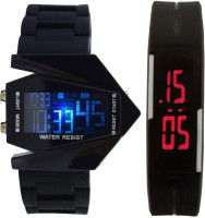 Oxhox Digital 7 color led watch Watch  - For Couple