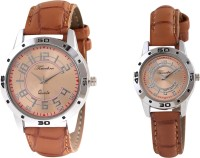 Timebre TCPLCOM77 Khaaki Analog Watch For Couple