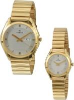 Titan 15782489YM04 Bandhan Analog Watch For Couple