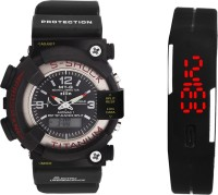 S Shock SF -102 DUEL TIME +LED Watch  - For Boys