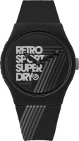 Superdry SYG181B Urban Retro Analog Watch For Unisex