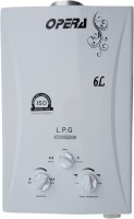 View Opera 6 L Instant Water Geyser(White, Gas-1) Home Appliances Price Online(Opera)