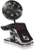 QUANTUM QHM 500 LM CAMERA (with 8 lights & 30 megapixel)  Webcam(Black)
