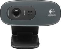 Logitech C-270-HD 3MP-Black  Webcam(Black)