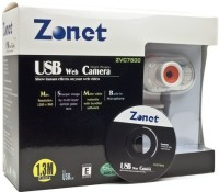 View Zonet Webcam with Built in Microphone and LCD Clip On  Webcam(White) Laptop Accessories Price Online(Zonet)