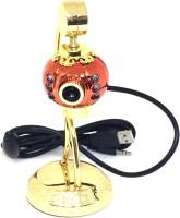 Shrih SHR-9363 HD 32 Megapixels PC Mic  Webcam(Orange With Gold)