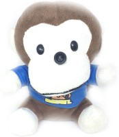 Shrih Plush Monkey In Blue Tshirt USB 2.0 10M HD  Webcam(Blue)