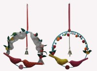 Creative Textiles Iron, Cotton Windchime(8 inch, Multicolor)