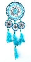 Paperiva Dream Catcher Wool Windchime(23 inch, Blue)