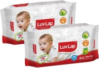 LuvLap Paraben Free Baby Wet Wipes with Aloe Vera(2 Pieces)