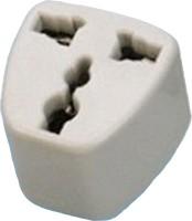 View BEcom EU-UK-AU Universal Adapter to USA Canada 3 Pin Travel Adaptor Plug Converter Worldwide Adaptor(White) Laptop Accessories Price Online(BEcom)