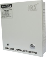 MX CCTV Camera and DVR Power supply Input 220 Volts AC to Output 12 Volts DC - 12 Amperes Worldwide Adaptor(Grey)