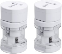 Care Case Pack Of 2-Universal Long Travel Adapter (AU EU UK US) International Good Quality Worldwide Adaptor