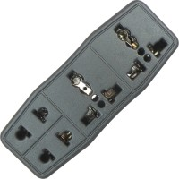 View MX 4 SOCKET CONVERSION PLUG WITH 2X 3 PIN + 2X 2 PIN UNIVERSAL SOCKETS Worldwide Adaptor(Black) Laptop Accessories Price Online(MX)