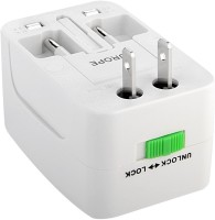 View BJE Universal World Wide Travel Charger Adapter Plug Worldwide Adaptor(White) Laptop Accessories Price Online(BJE)