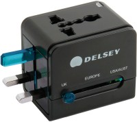 Delsey Universal Electric Plug Adaptor Blue Worldwide Adaptor(Blue)