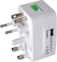 VU4 Travel USB Worldwide Adaptor(White)