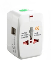 View 99 Gems Universal Dual USB Worldwide Adaptor(White) Laptop Accessories Price Online(99 Gems)