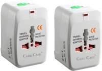 Care Case Pack Of 2-Travel Universal (AU EU UK US) Good Quality Worldwide Adaptor(White)