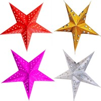 Nxt Gen CHRISTMAS STAR 4 PCS Hanging Ornaments Pack of 4