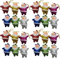 Nxt Gen 24 GLITTER SANTA Hanging Ornaments Pack of 24