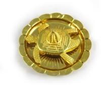 Ruchi World Vastu Feng Shui Meru ,Shree On Tortoise In Plate Iron Yantra(Pack of 1)
