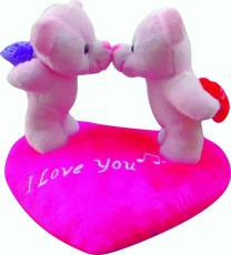 Natkhat Kissing Couple On Heart - 20 cm
