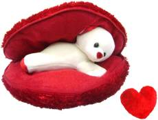 Saugat Traders Big Heart Teddy with Small Heart - 9.84 Inch