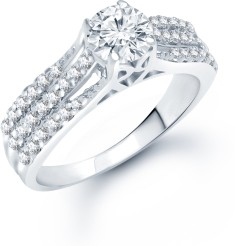 Reviews Meenaz Jewellery Solitaire Engagement Proposal Silver Rings