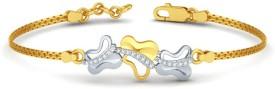 Aamanat Silver Swarovski Crystal Rhodium Bracelet
