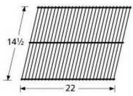 Music City Metals 41301 Chrome Steel Wire Cooking Grid
