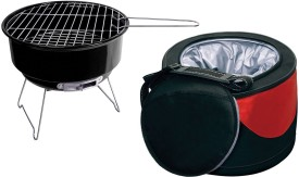 Hokipo Portable Charcoal BBQ Grill (with Insulated Cooler Bag)