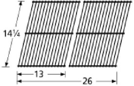 Music City Metals 54302 Porcelain Steel Wire Cooking Grid