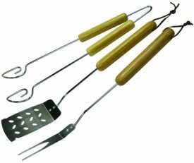 GrillPro 40321 3 Piece Chrome tool Set