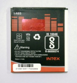 Intex 1300mAh Battery (For Micromax A65 Bolt)