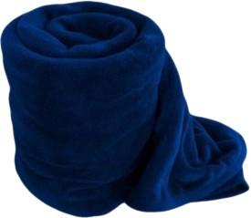 RS Quality Plain Double Blanket Blue